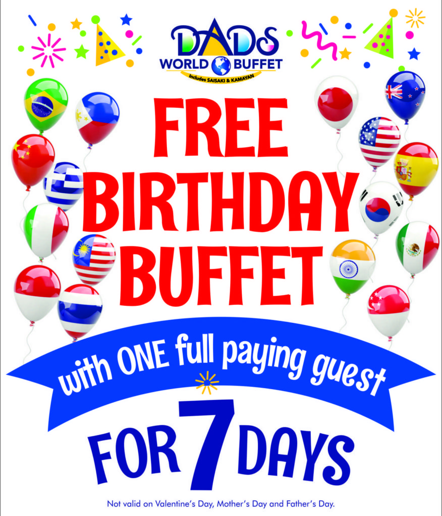 Birthday Promo Restaurants in the Philippines | Upated: 2019
