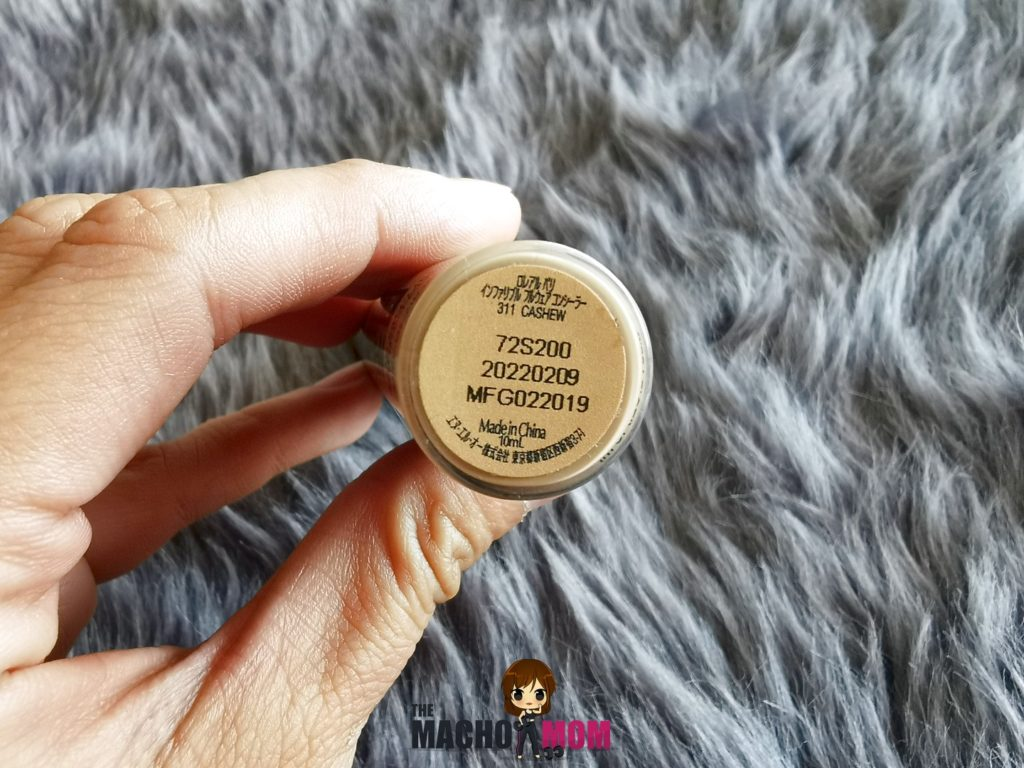 L'oreal Infallible Concealer Full Wear in Cashew (Review, Photos, Swatch)