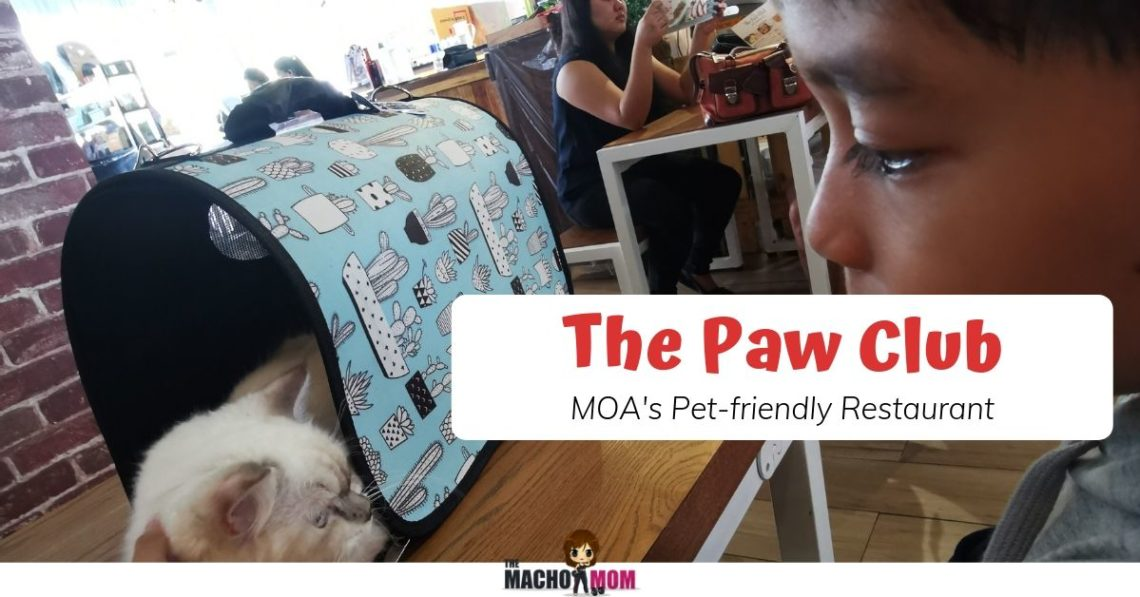 Pet Friendly Restaurant in MOA The Paw Club