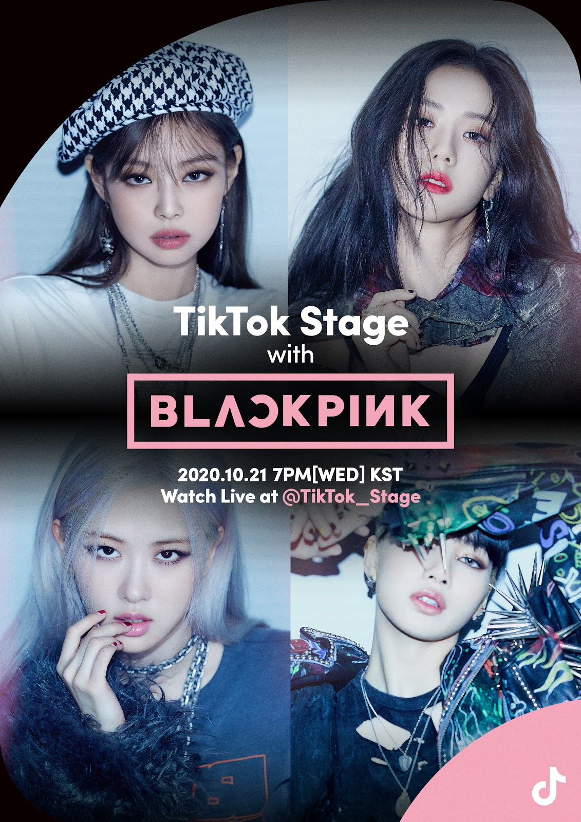 Connect with BLACKPINK on 'TikTok Stage'! this Wednesday, October 21