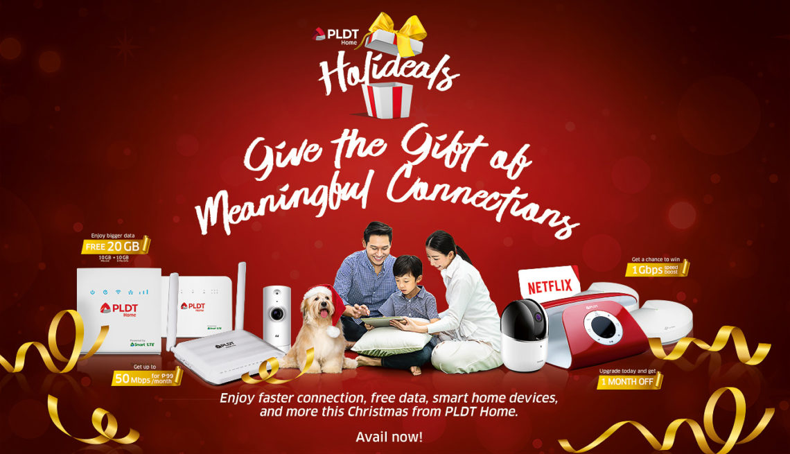 PLDT Home gives its subscribers the gift of meaningful connections with Holideals
