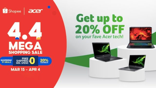 Here are the Acer products you can get at a discounted price on Shopee 4.4 Mega Shopping Sale