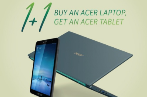 Get a free tablet when you purchase an Acer Swift or Spin Laptop!